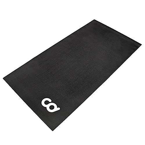 """CyclingDeal Exercise Fitness Mat - 3'x6' Soft - for Treadmill, Peloton Stationary Bike, Elliptical, Gym Equipment Waterproof Mat Use On Hardwood Floors and Carpet Protection (36"""" x 72"""")"""