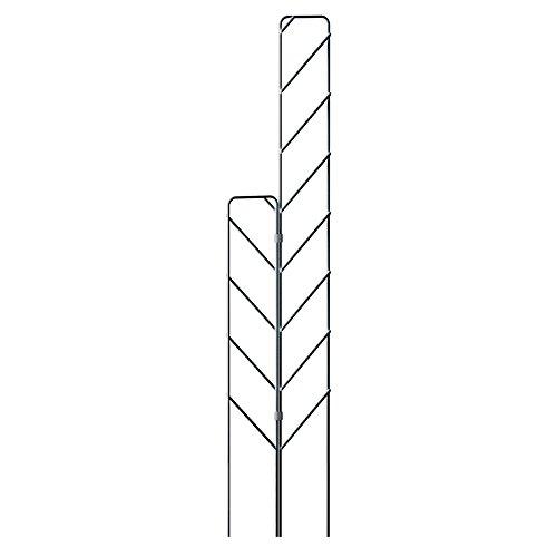Emsa Rankgitter-Set für Balkon, 115 cm und 77 cm, Inklusive Verbindungsclips, Anthrazit, City, 517869