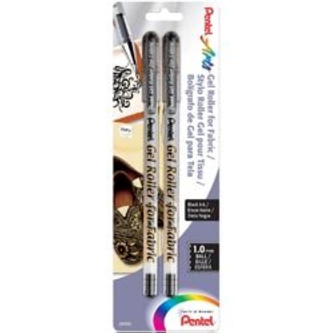Bulk Buy: Pentel Pens (3-Pack) Gel Roller Fabric Pens 1mm 2/Pkg Black BN15BP2A