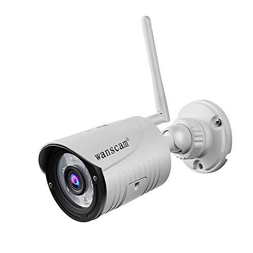 Hdliang Inalámbrico WiFi 1080P HD Cámara IP Red al Aire Libre Visión Nocturna 2MP 4X Dígitos Zoom Detección de Movimiento, Cámara de vigilancia de Seguridad a Prueba de Agua IP66 Wanscam K22