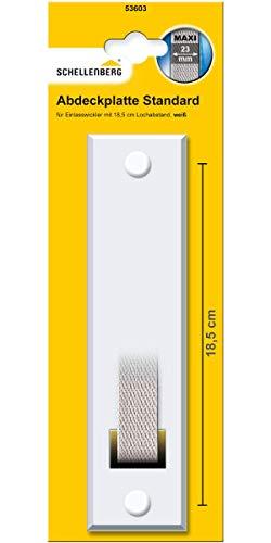 Schellenberg 53603 Abdeckplatte Gurtwicklerblende Lochabstand 18,5 cm, Blende für Gurtwickler, für Einlasswickler