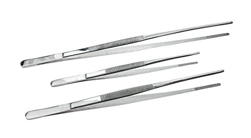 SE 3-Piece Tweezers Set with Serrated Tips - TW2-408
