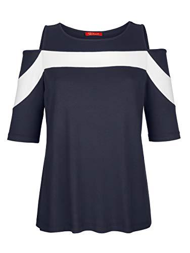 Alba Moda Damen Shirt Marineblau 46 Viskose