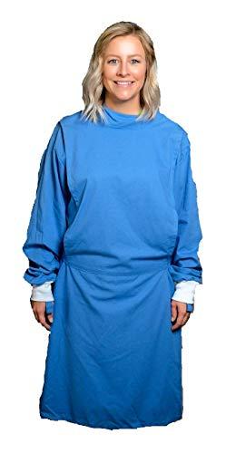 Unisex Surgical Gowns 100% Cotton Washable Healthcare Uniform Handmade Gown – Medium