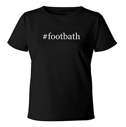 #footbath - Women's Soft & Comfortable Hashtag Misses Cut T-Shirt, Black, XX-Large