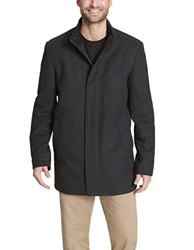 Dockers Men's Wool Melton Two Pocket Full Length Duffle Coat, Charcoal, M