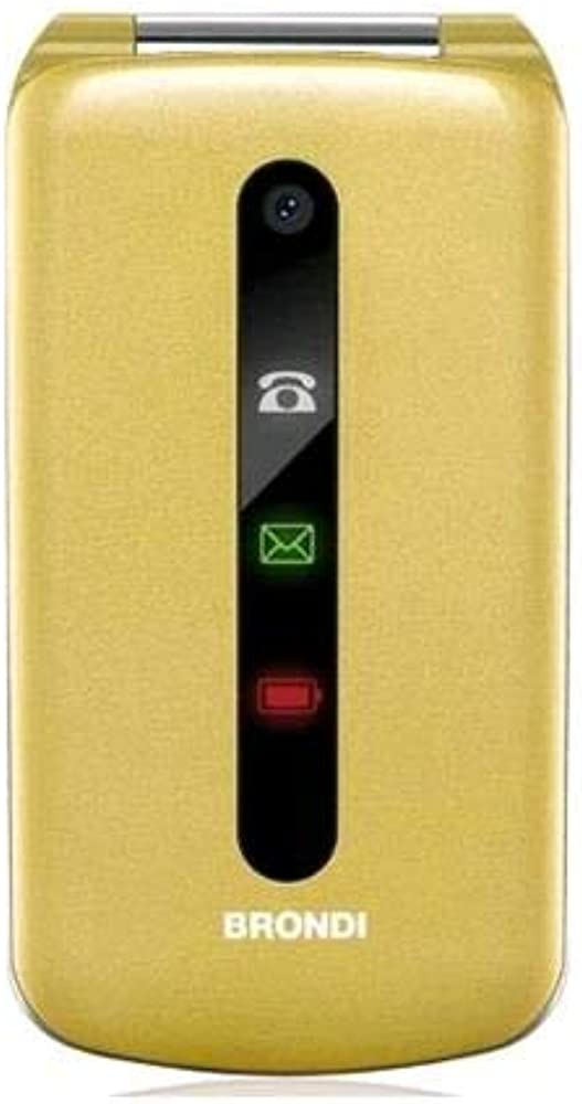 Brondi president gold cellulare gsm dual sim maxi display da 3 pollici 10275074
