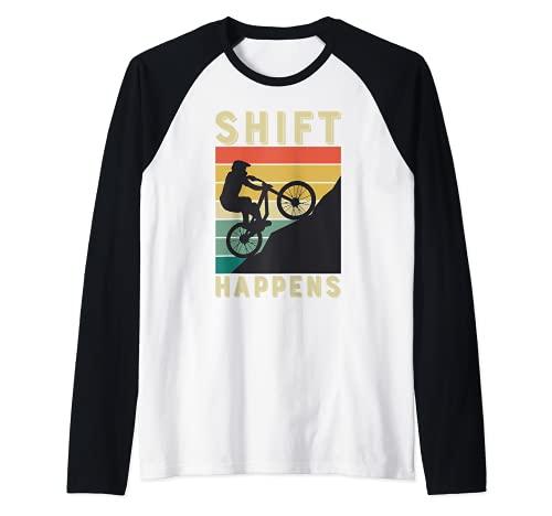 Faster Dirty Mountainbiker BMX MTB Downhill bike gift Camiseta Manga Raglan