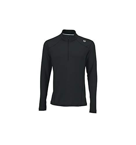 WILSON m Nvision Zip T-Shirt à Manches Longues de Tennis, Homme, Homme, M Nvision Zip, Taille S