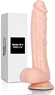 Beauty Molly Superior 8 Inch Flesh Color Realistic Dildo with Suction Cup Anal Adult Sex Toys, 11.8 Ounce
