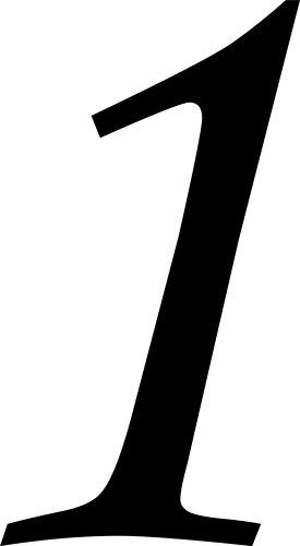 Selbstklebende Hausnummer - 1 - schwarz, 10 cm hoch - Kleben statt Bohren, Aufkleber für den Aussenbereich, Ziffer, Zahlen