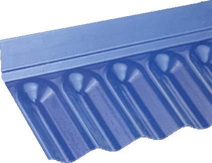 Wandanschluss für PVC-Wellplatten mit Profil 76/18 - Sinus
