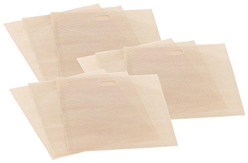 Rosenstein & Söhne Toastbeutel: 9x Dauer-Antihaft-XL-Toastbags für Toaster, Mikrowelle & Backofen (Toastabag)