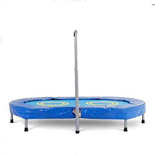 Opvouwbare mini-trampoline, Opvouwbare springtrampoline, Child Bounce Cardio, dubbele trampoline voor thuis, persoonlijk springkussen met armleuningen