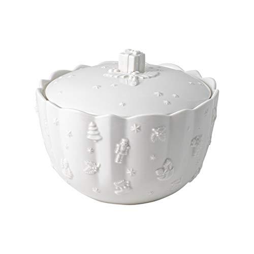 Villeroy & Boch - Toy's Delight Royal Classic Gebäckdose, große Vorratsdose mit Reliefmuster, Premium Porzellan, 2270 ml, weiß