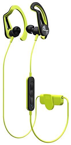 Pioneer SE-E7BT(Y) In-Ear Bluetooth Sport/Active Kopfhörer mit Clip (Bedienelement, Mikrofon, 7 Stunden Wiedergabe, wasserabweisend (IPX4), für iPhone, Android Smartphones), Gelb