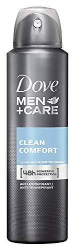 Dove Men+Care Anti-Transpirant Spray gegen Körpergeruch und Achselnässe Clean Comfort 48 Stunden Schutz 150 ml 1 Stück