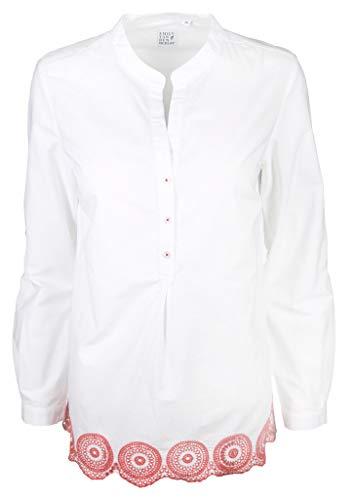 Emily van den Bergh Damen Bluse Größe 38 EU Weiß (weiß)