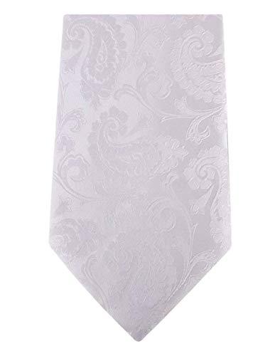 David Van Hagen Blanc Paisley cravate de