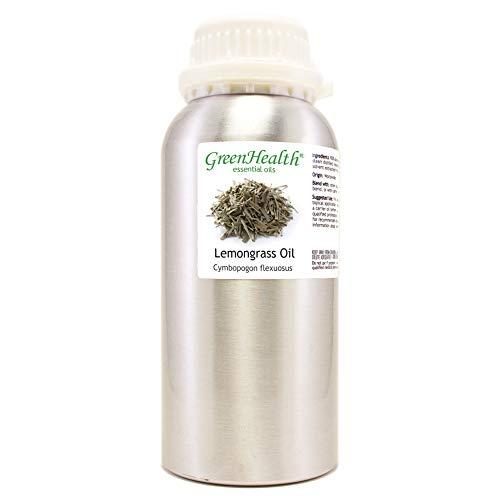 GreenHealth - Lemongrass Essential Oil - 16 fl oz - Aluminum Bottle