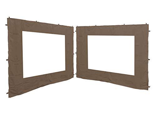 QUICK STAR 2 Seitenteile 250x190cm für Gartenpavillon Antik Pavillon Partyzelt 3x3m Seitenwand Taupe/Beigegrau RAL 7006