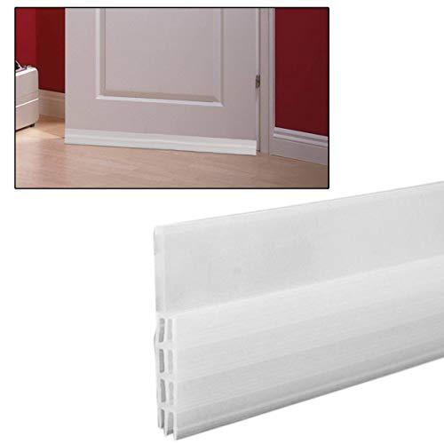 Xloves Selbstklebende Tür Türdichtung Dichtungsstreifen Zugluftstopper gegen Insekt Ersatzdichtung Wetterfest Blocker Schalldichtung Silikon Türstopper 100 * 5cm (Weiß)