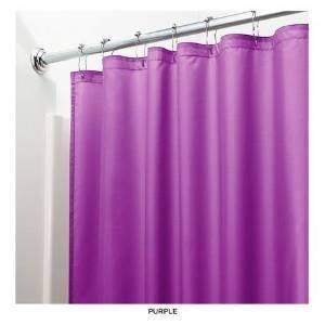 Heavy Duty Magnetized Shower Curtain Liner Purple
