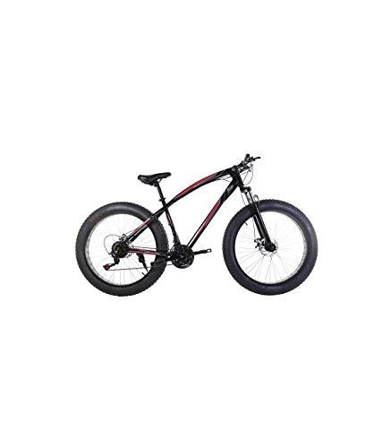 Riscko Bicicleta Fat Bike Todoterreno con Ruedas de 26x4 Pulgadas antipinchazos y Cambio Shimano Color Negro