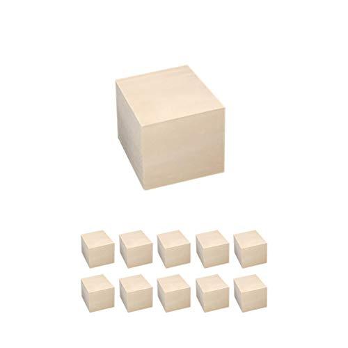 Bloques cuadrados de madera Cubos de madera, bloques de abedul de madera cuadrados en blanco sin terminar, para pintar y decorar, hacer rompecabezas, hacer manualidades y proyectos de bricolaje