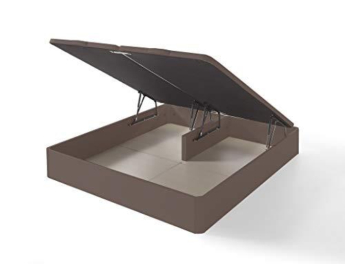IKON SLEEP Canapé Abatible Fénix de Madera Wengué 180x200 cm - Montaje a Domicilio | Gran Capacidad | Esquinas de Madera