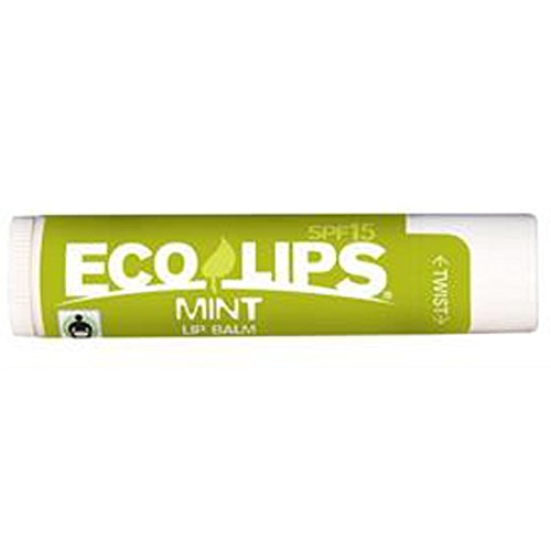 Mint SPF 15 Lip Balm Made with 70% Certified Organic - 0.15 oz,(Eco Lips) by Eco Lips