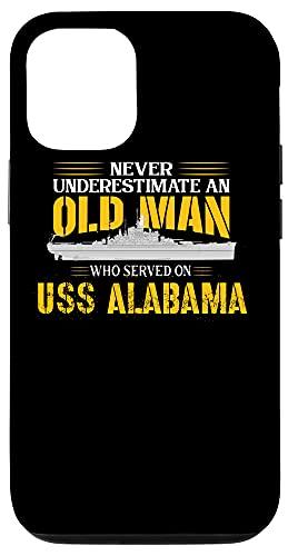iPhone 12/12 Pro Never Underestimate USS Alabama BB-60 Battleship Case