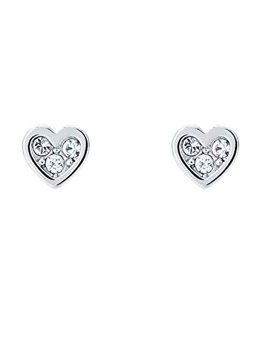 Ted Baker Neena Nano Heart Stud Earrings Silver Tone