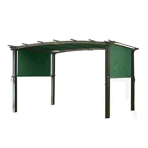 Millster Garden Gazebo Wooden Small Smoking Shelter -Canopy Cover Sturdy Durable Replacement- Awning Sun Shade- Universal For Pergola Structures