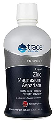 Trace Minerals TMRFIT Series Liquid Zinc Magnesium Aspartate Supplement, 30 Ounce