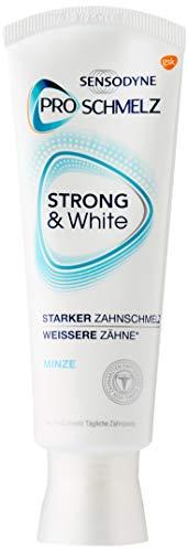 SENSODYNE Proschmelz strong und white, tägliche Whitening Zahnpasta mit Fluorid, bei säurebedingtem Zahnschmelzabbau, 1x75ml