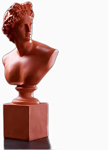 WQQLQX Statue Skulptur Statue David Apollo Büste Figuren Michelangelo Buonarroti Kunstharz Handwerk Dekoration Dekoration Geschenke Skulpturen (Color : Orange)