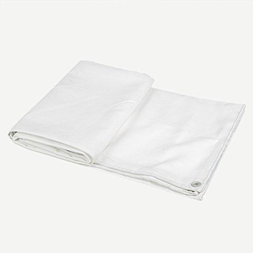 Dongyd Bâches en Plastique polyéthylène réversible, imperméable, Anti-moisissure et résistant déchirures, en polyéthylène, Blanche (Couleur : Blanc, Taille : 5x8m)