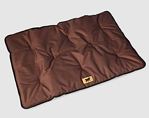 Feplast 81082012 Colchón para Perros Jolly 100, Tejido Técnico Antiarañazos e Impermeable, 100 x 65 Cm Marrón