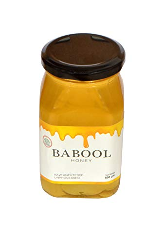Aliza Organic Honey Raw Unprocessed Unfiltered Unpasteurized Pure Natural Original Babool Flavor Honey 500 Gram