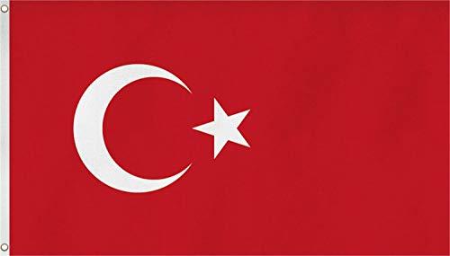 normani XXL Flagge Fahne, genäht in 150 x 250 oder 300 x 500 cm Farbe Türkei Größe 300x500