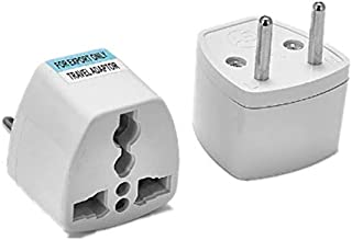 GOUWEI 500PCS Universal US UK AU to EU Plug USA to Euro Europe Travel Wall AC Power Charger Outlet Adapter Converter 2 Round Socket Pin