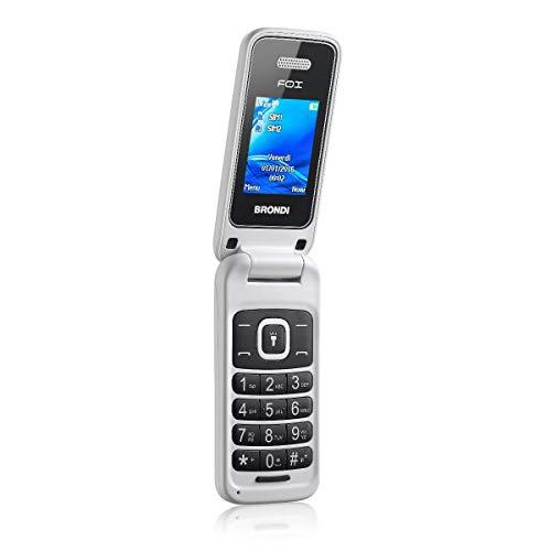 Brondi Fox 1.77' 74g Blanco Característica del teléfono - Teléfono móvil (Flip, SIM Doble, 4,5 cm (1.77'), 1,3 MP, 600 mAh, Blanco)