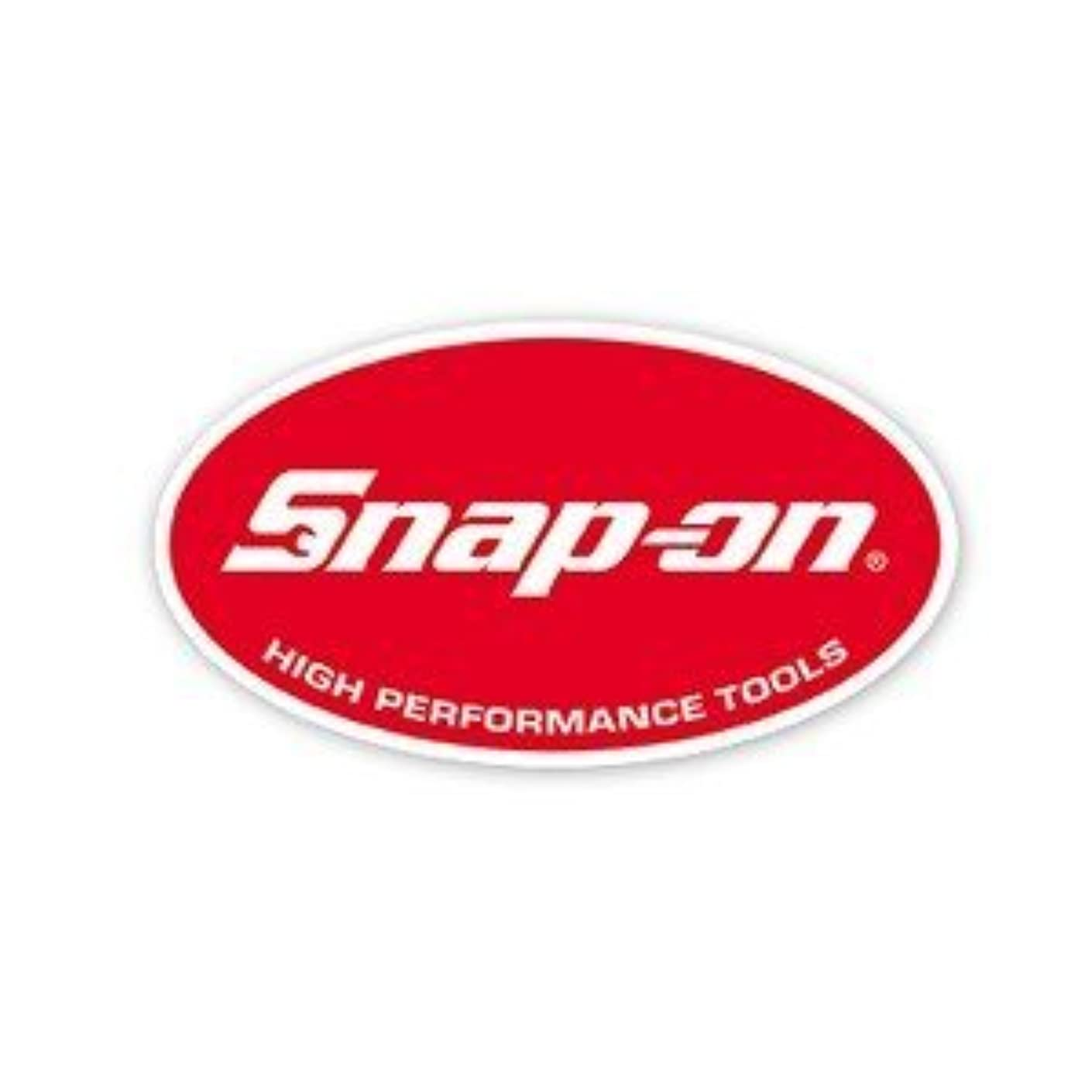 Snap on Tools Small Oval Decal Small Red White