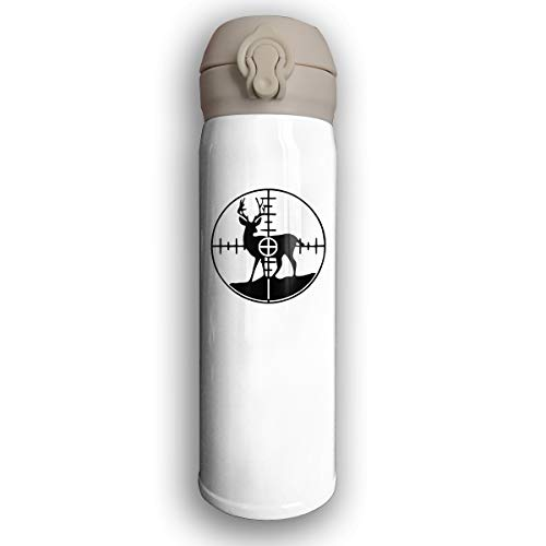Deer Buck Hunting Crosshairs Target Vacuum Insulated Stainless Steel Travel Mug Water Thermos 17 Oz