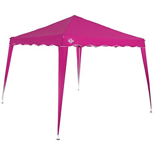 Deuba Pavillon 3x3m wasserdicht inkl. Tasche Faltpavillon Capri UV-Schutz 50+ Partyzelt Gartenpavillon Pop up Zelt Pink
