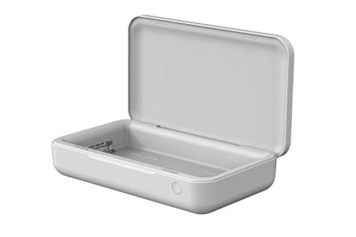 Diseñada para Samsung ITFIT - Caja desinfectante UV con función de Carga inductiva, Color Blanco
