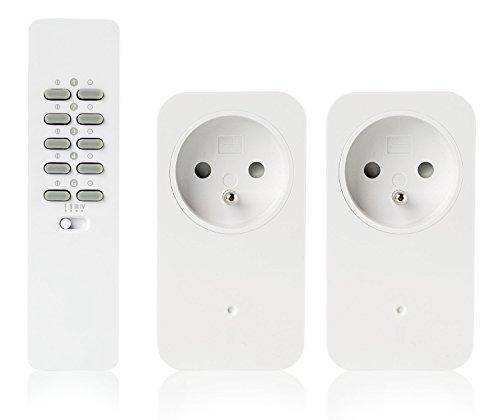 Trust Smart Home AC2–200R Kit 2Prese Integrate con Ricevitore/variatore Senza Fili + Telecomando Home Bianco