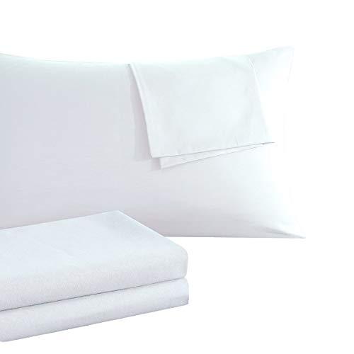 RUIKASI Kissenbezug Kissenbezüge 40 x 80 Doppelpack [2er Set] Atmungsaktive Baumwolle Antistatisch für Haar- und Gesichtspflege Kopfkissenbezug 40x80 Doppelpack - Weiß
