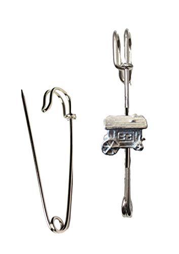 Giftsforall Fortune Teller Traditioneller wagen 1,4 x 1,1 cm ft122 Schal-Brosche und Kiltnadel Zinn 7,5 cm